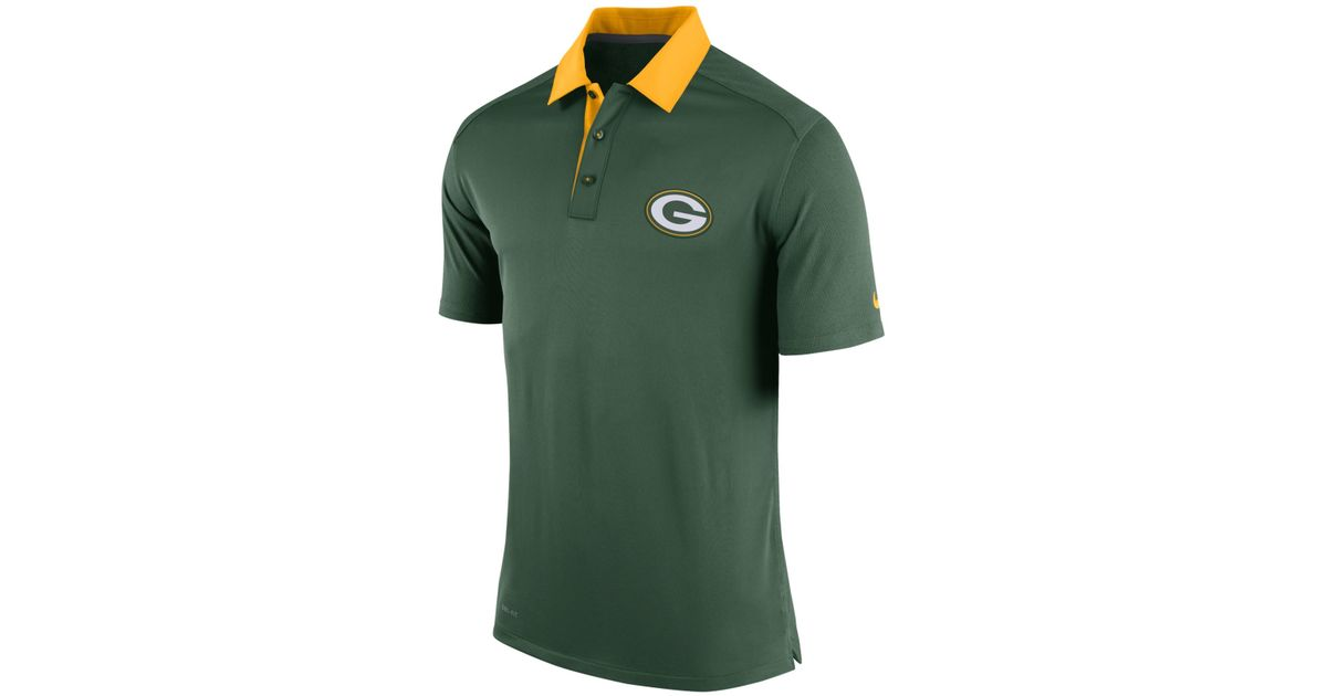 Lyst - Nike Men s Green Bay Packers Elite Coaches Polo in Green for Men fabc8c128