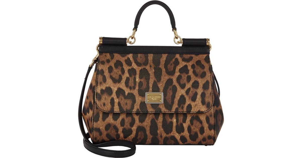 97661b5c72 Lyst - Dolce   Gabbana Leopard-print Medium Miss Sicily Bag in Natural
