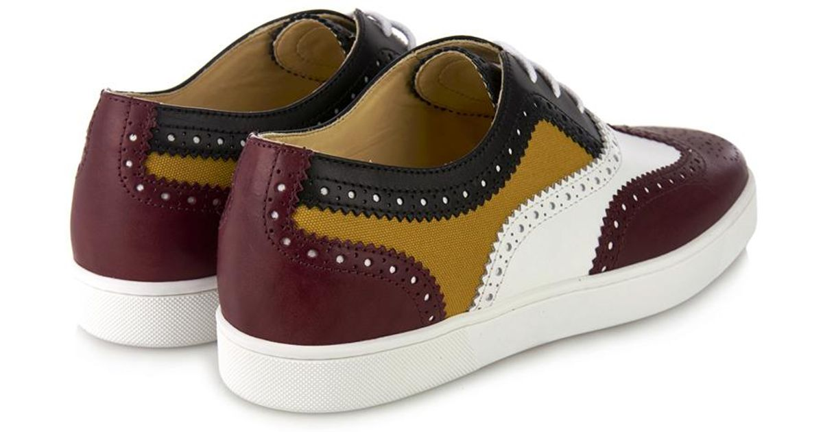 24a33005a5b4 Christian Louboutin Golfito Leather and Canvas Low-Top Sneakers for Men -  Lyst