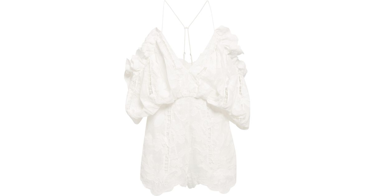 2d58f6c82e3 Lyst - Alice McCALL Porcelain Shake It Off Playsuit in White