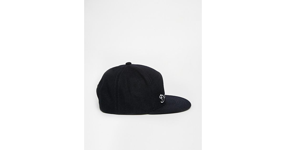 61d576ac9c7d3 Lyst - ASOS Snapback Cap In Navy With Deadbeats Embroidery in Black for Men