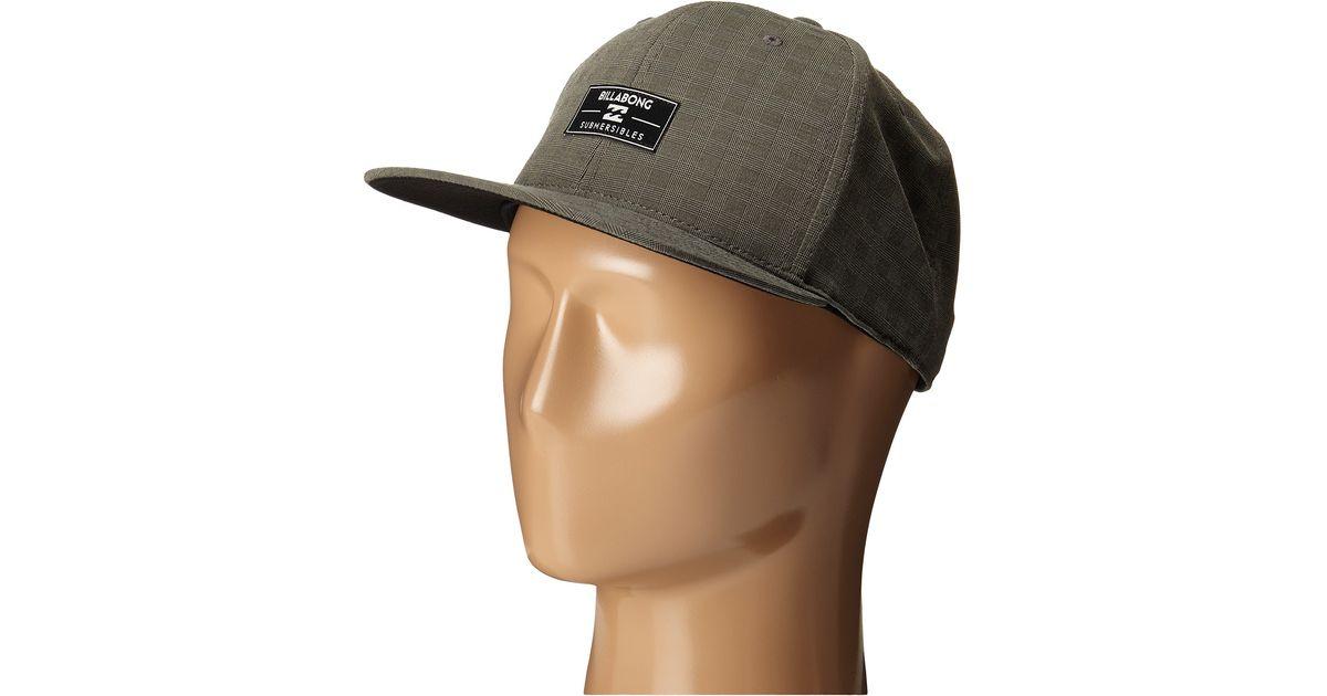 the best attitude 5de67 6f513 ... netherlands lyst billabong submersible 110 flexfit hat for men 5a066  4a1b8