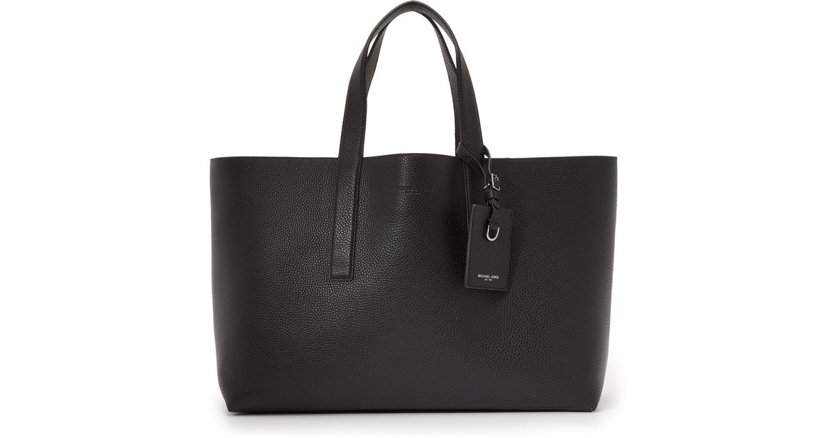c6b2f98aa8fb Lyst - Michael Kors Mason East West Reversible Leather Tote in Black for Men
