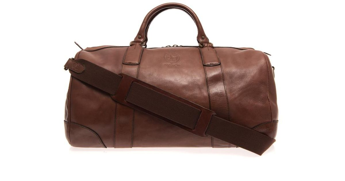 c1d3fb8385f6 Lyst - Polo Ralph Lauren Leather Travel Bag in Brown for Men