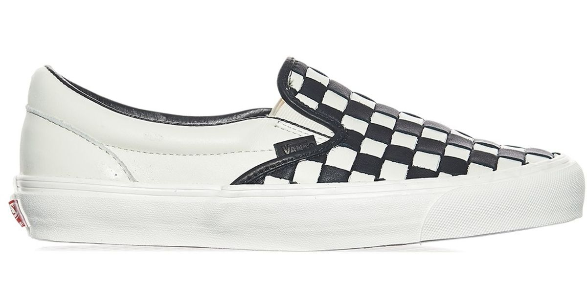 vans checkerboard slip on og lx