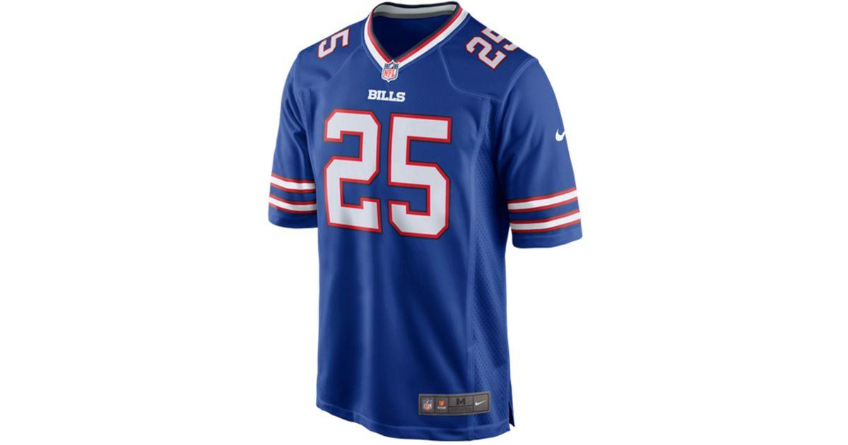 nike s lesean mccoy buffalo bills jersey in blue