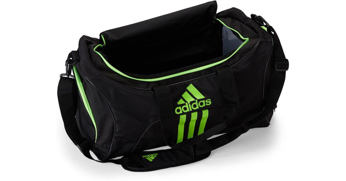 Lyst - adidas Originals Black   Green Scorer Medium Duffel in Black for Men 13cdc4ec69b45