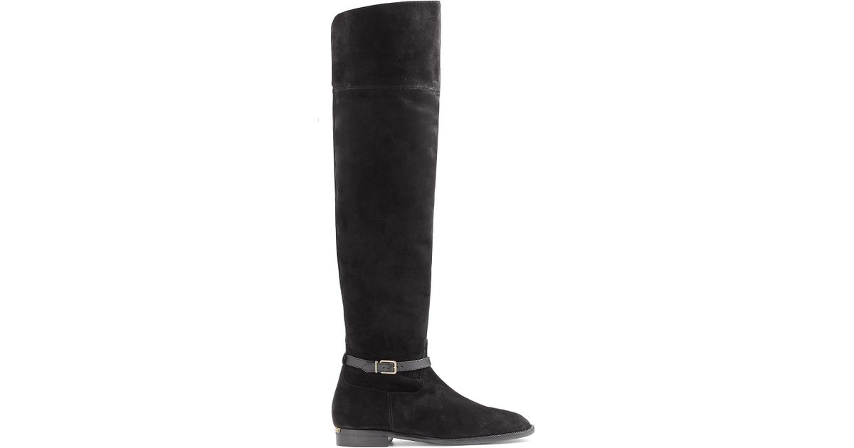 89ad55522d5 Lyst - Burberry Suede Over-the-knee Boots - Black in Black