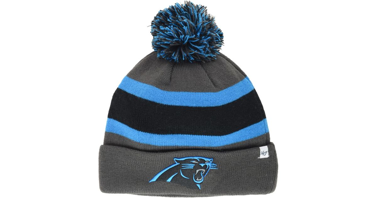 Lyst - 47 Brand Carolina Panthers Breakaway Knit Hat in Gray for Men 6109d7a1d