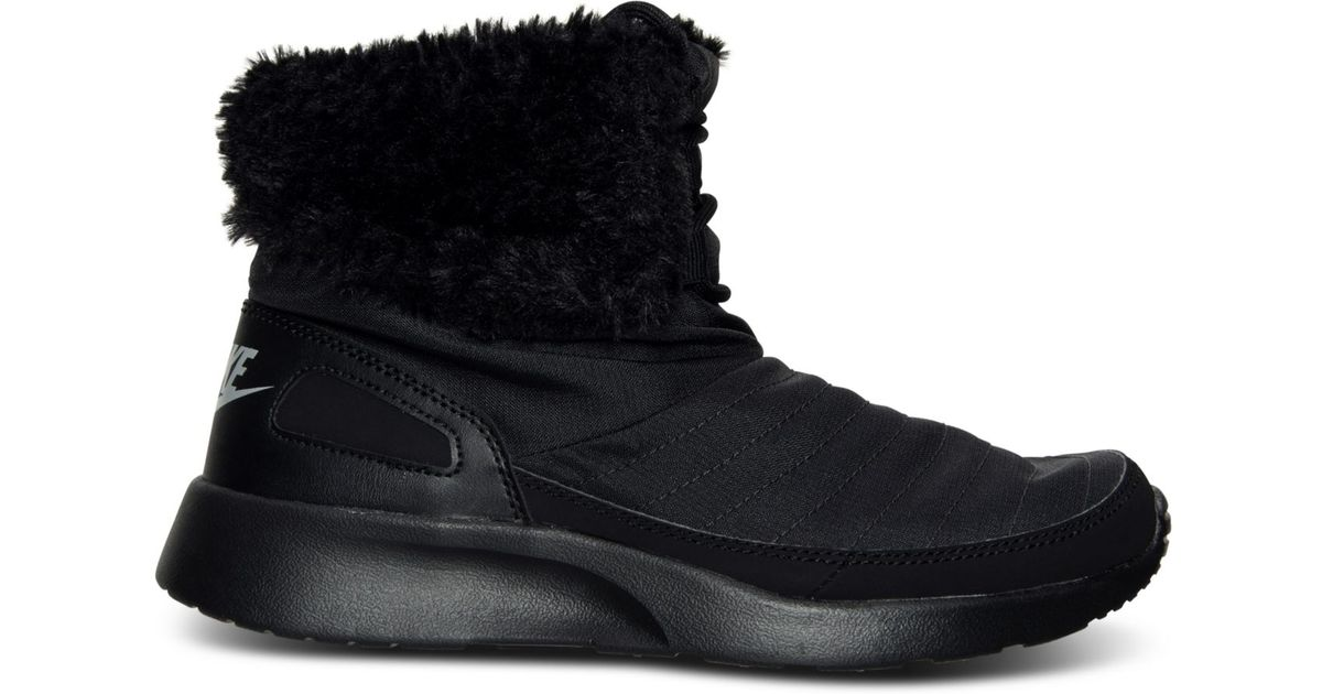 release date b19f7 3bb34 Nike Women s Kaishi Winter High Sneakerboots From Finish Line in Black -  Lyst
