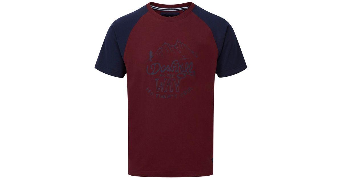 Tog 24 Saturn Mens T Shirt Downhill Print In Black For Men