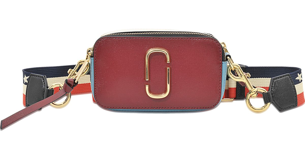 2b3d47fda4 Marc Jacobs Snapshot Colorblock Saffiano Small Camera Bag in Red - Lyst