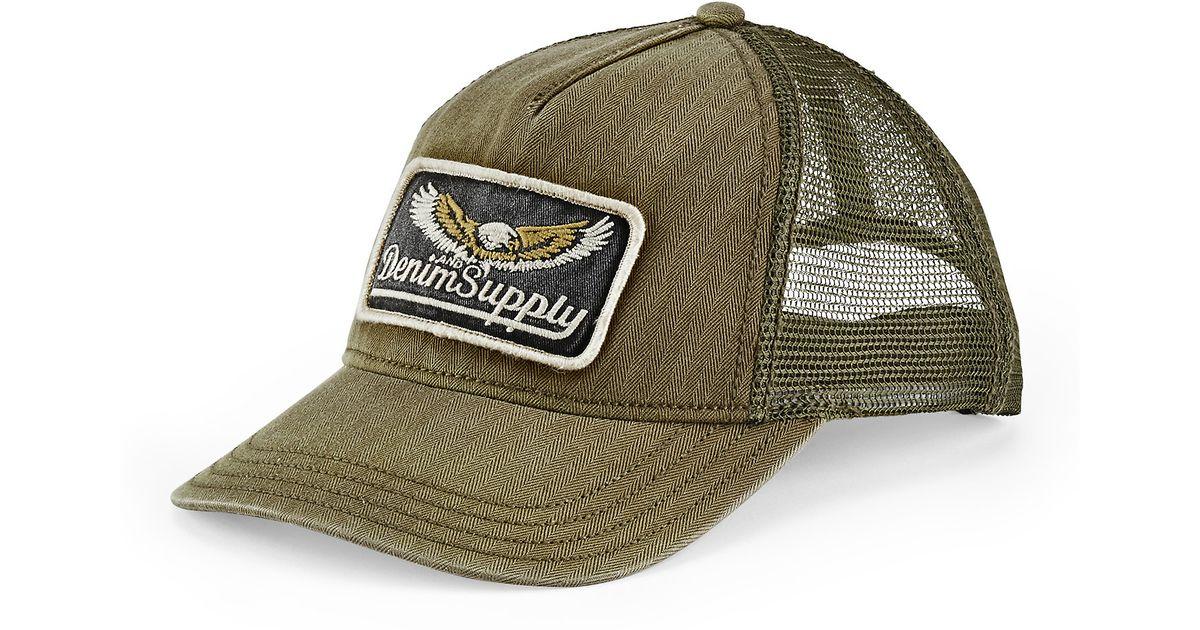 025d9c62a32 Lyst - Denim   Supply Ralph Lauren Rugged Trucker Hat in Green for Men
