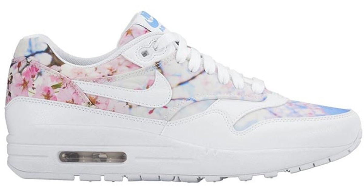 lyst nike air max 1 cherry blossom leather low top. Black Bedroom Furniture Sets. Home Design Ideas