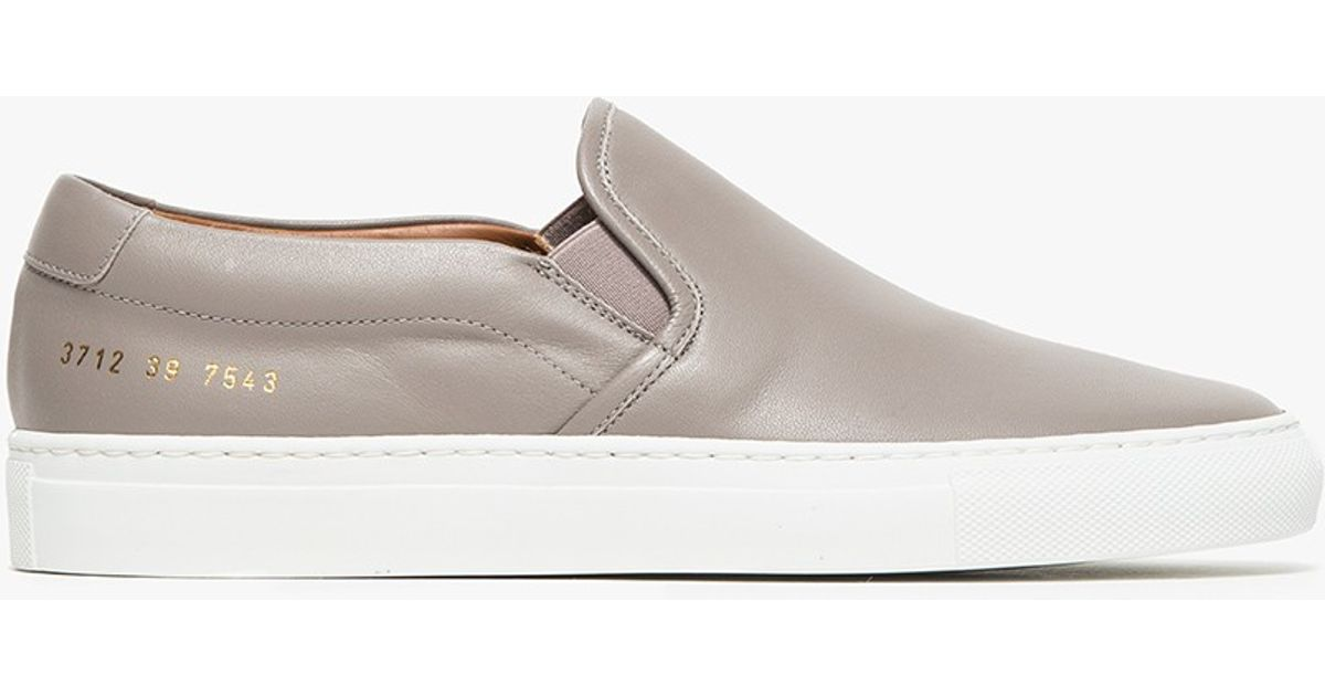 6363ea44dfc75 Lyst - Common Projects Slip-on In Nappa in Gray