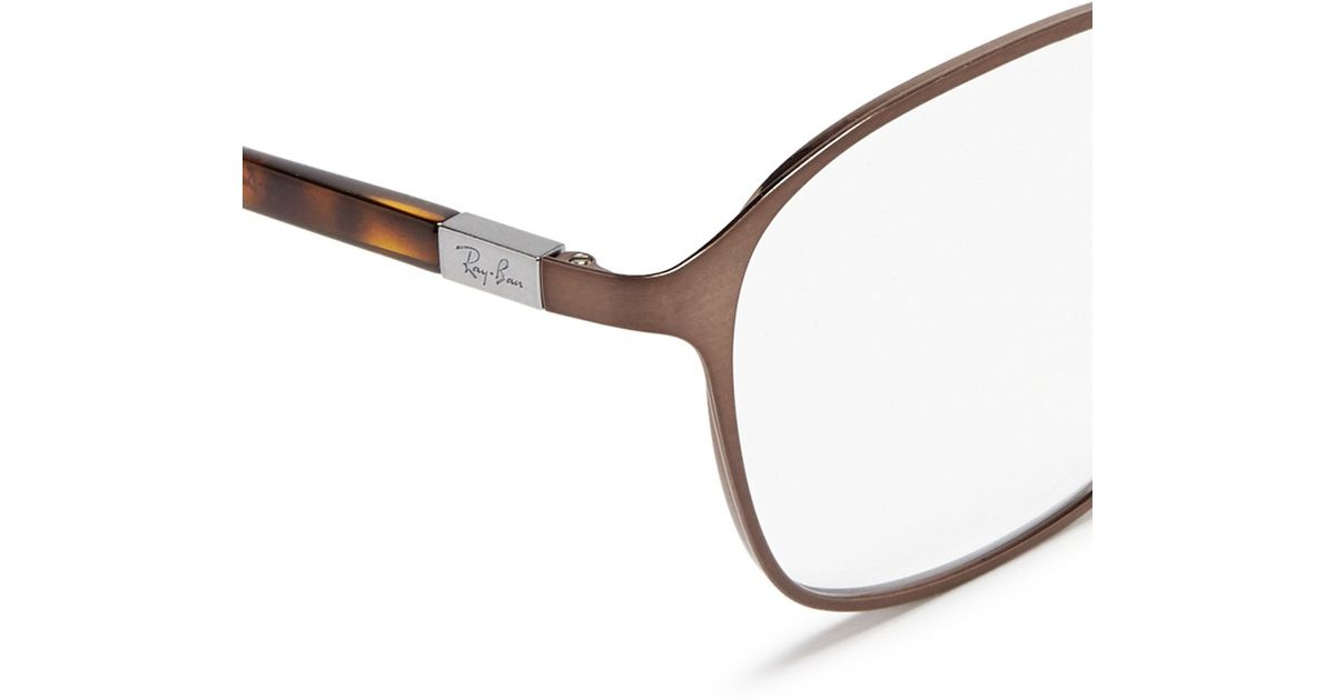Ray Ban Square Frame Glasses : Ray-ban Square Metal Frame Optical Glasses in Gray for Men ...