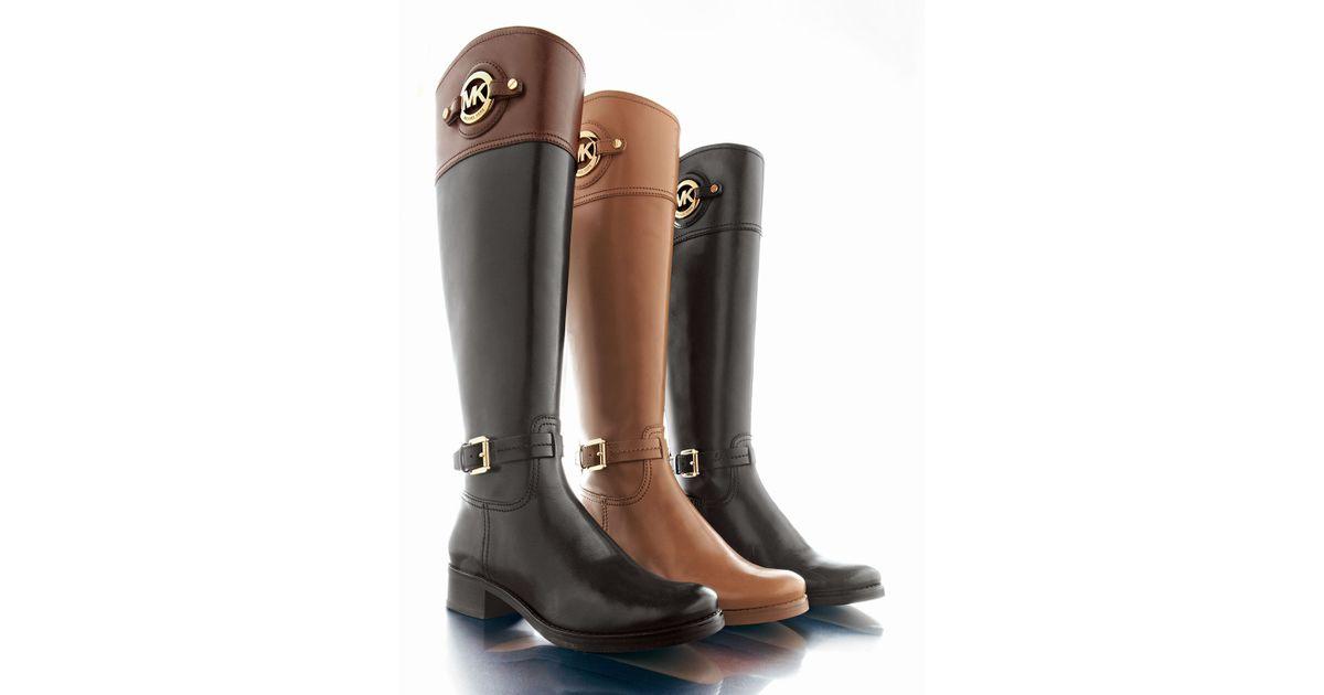 6da29919963de Lyst - MICHAEL Michael Kors Stockard Leather Riding Boot in Brown