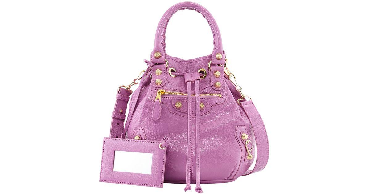 8453a62e05 Lyst - Balenciaga Giant 12 Mini Pompon Bag