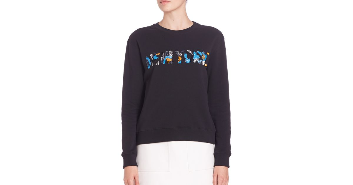 Msgm new york embroidered sweatshirt lyst