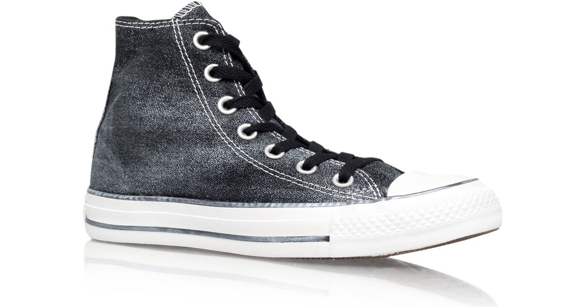 c146b0a2a45e Converse Black Sparkle Wash Chuck Taylor All Star Hi-Top Trainers in Black  - Lyst