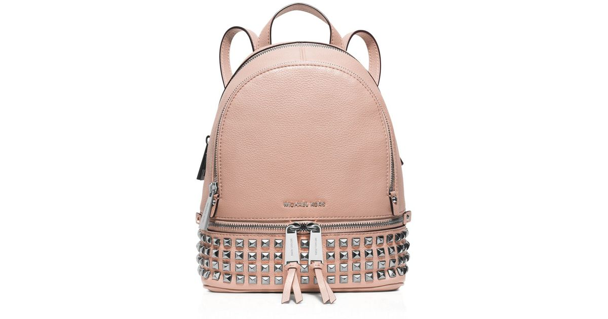 bf669e296b3c Lyst - MICHAEL Michael Kors Extra Small Rhea Zip Backpack in Metallic