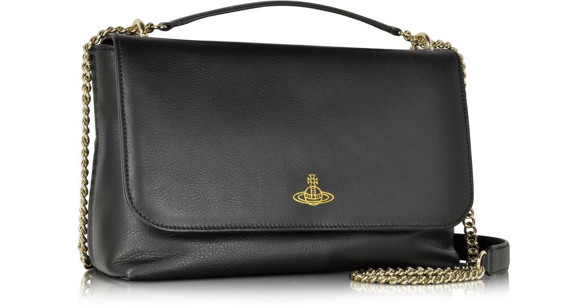 86378d0661dc Lyst - Vivienne Westwood Black Spencer Large Shoulder Bag in Black
