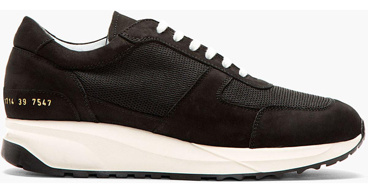 0e8ef51f68239 Lyst - Common Projects Black Track Running Shoes in Black for Men