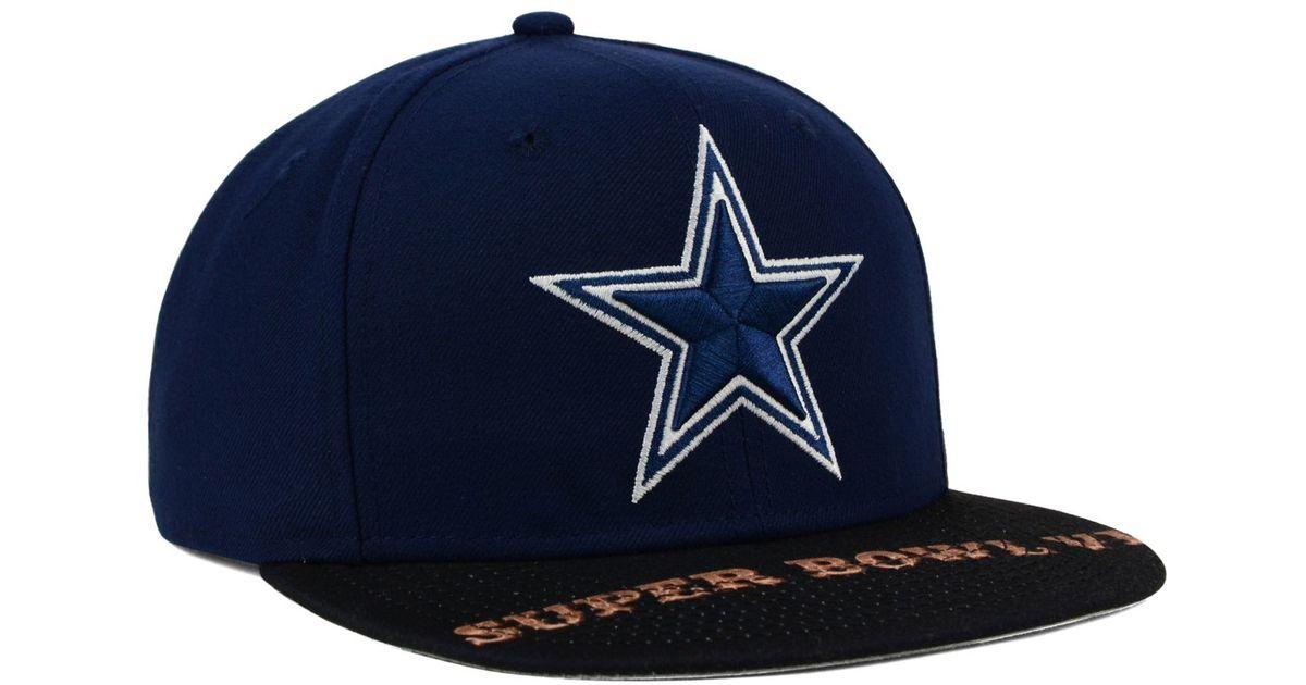 62346c8bb ... new zealand lyst ktz dallas cowboys super bowl 50 jumbo vize 9fifty  snapback cap in blue usa dallas cowboys hat snapback superbowl xxx champions  ...
