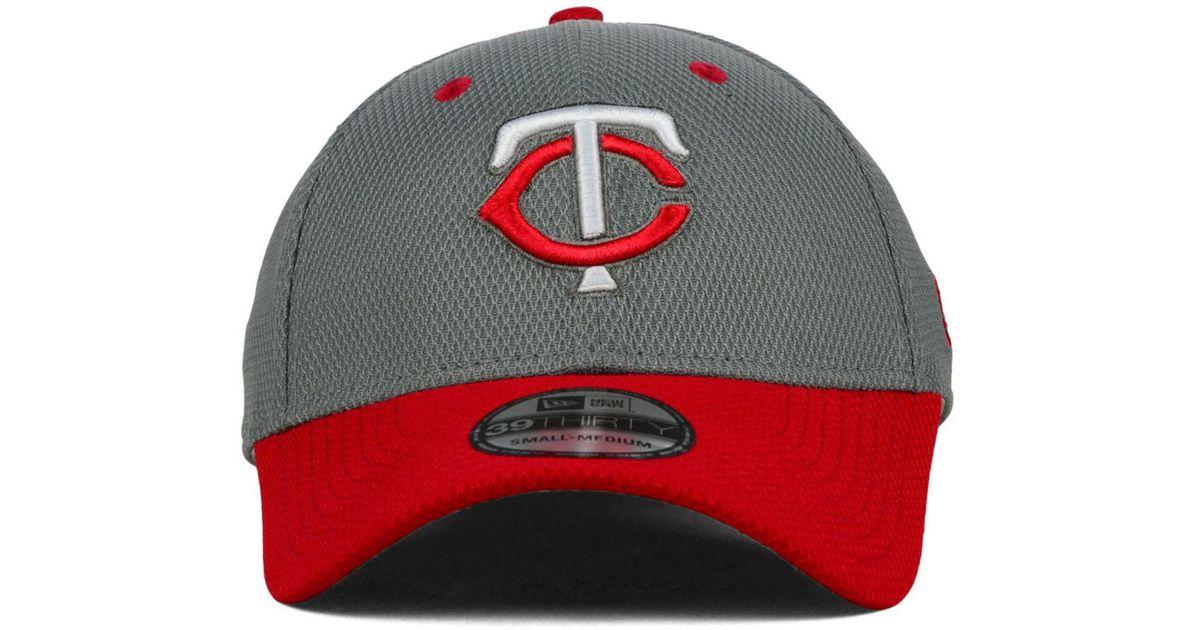 huge discount 0cb00 16a06 Lyst - KTZ Minnesota Twins Team Addict 39Thirty Cap in Gray for Men