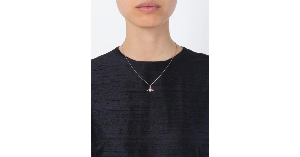 Lyst vivienne westwood flower orb pendant necklace in pink aloadofball Gallery