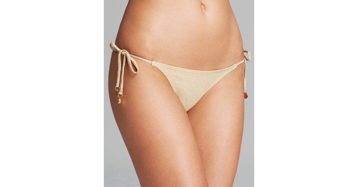 ba63c83d507c1 Lyst - OndadeMar Every Day Tie Side Bikini Bottom in Metallic