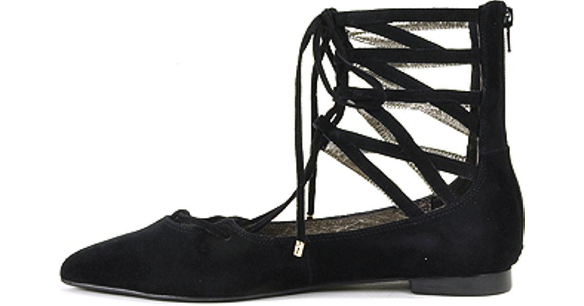 6c3a86bed320 Jeffrey campbell Lace-up Flat in Black