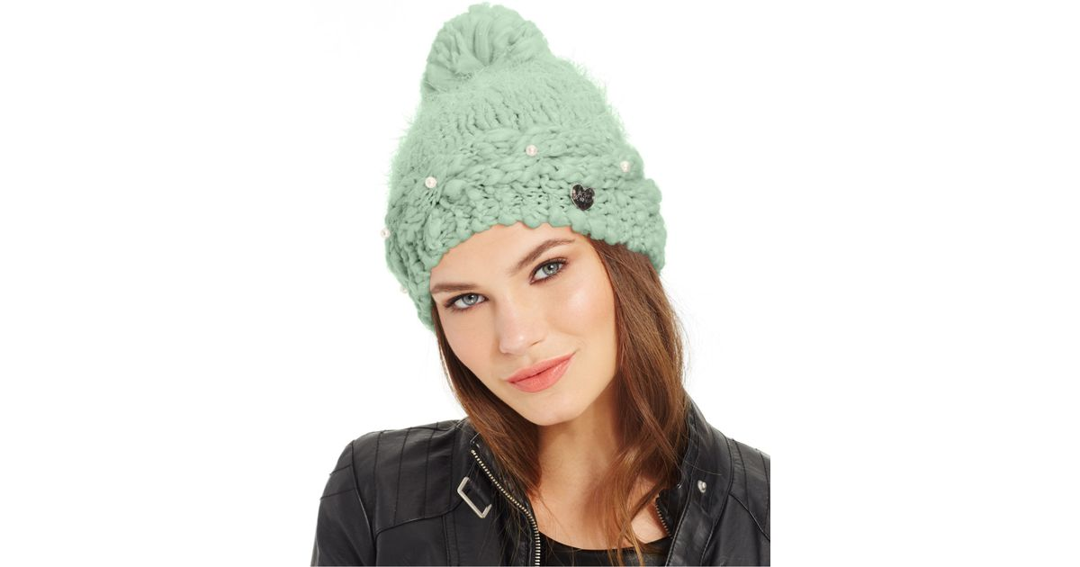 9aa63d75ae01c Betsey Johnson Pearly Girl Hat in Blue - Lyst