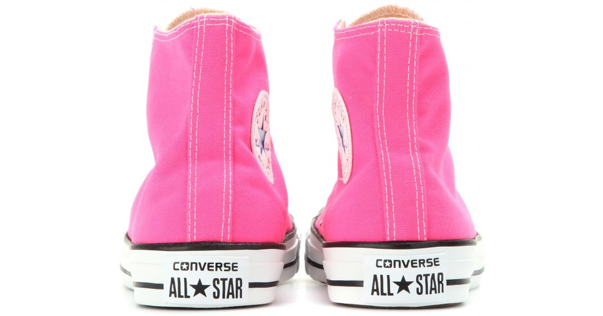 d67c8aeead44df Lyst - Converse Chuck Taylor All Star High-Top Sneakers in Pink