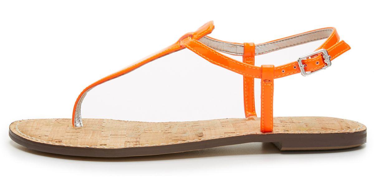 a5856ec65 Sam Edelman Gigi Thong Sandals in Orange - Lyst