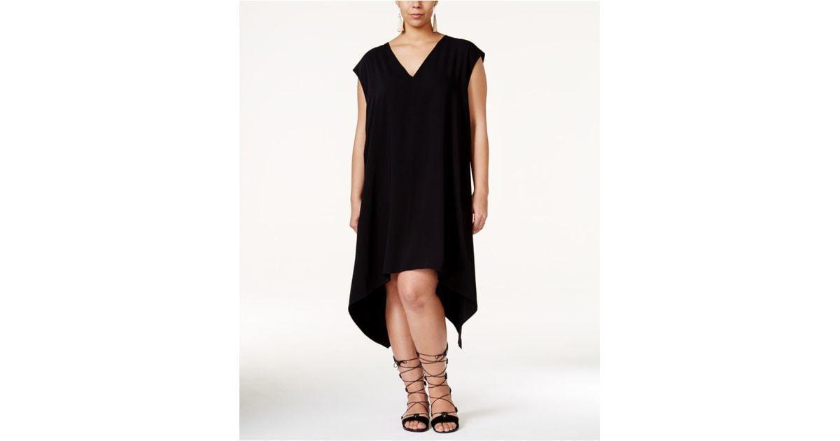 2faaa4a7015ed Lyst - RACHEL Rachel Roy Plus Size Sydney Sleeveless Handkerchief-hem Dress  in Black