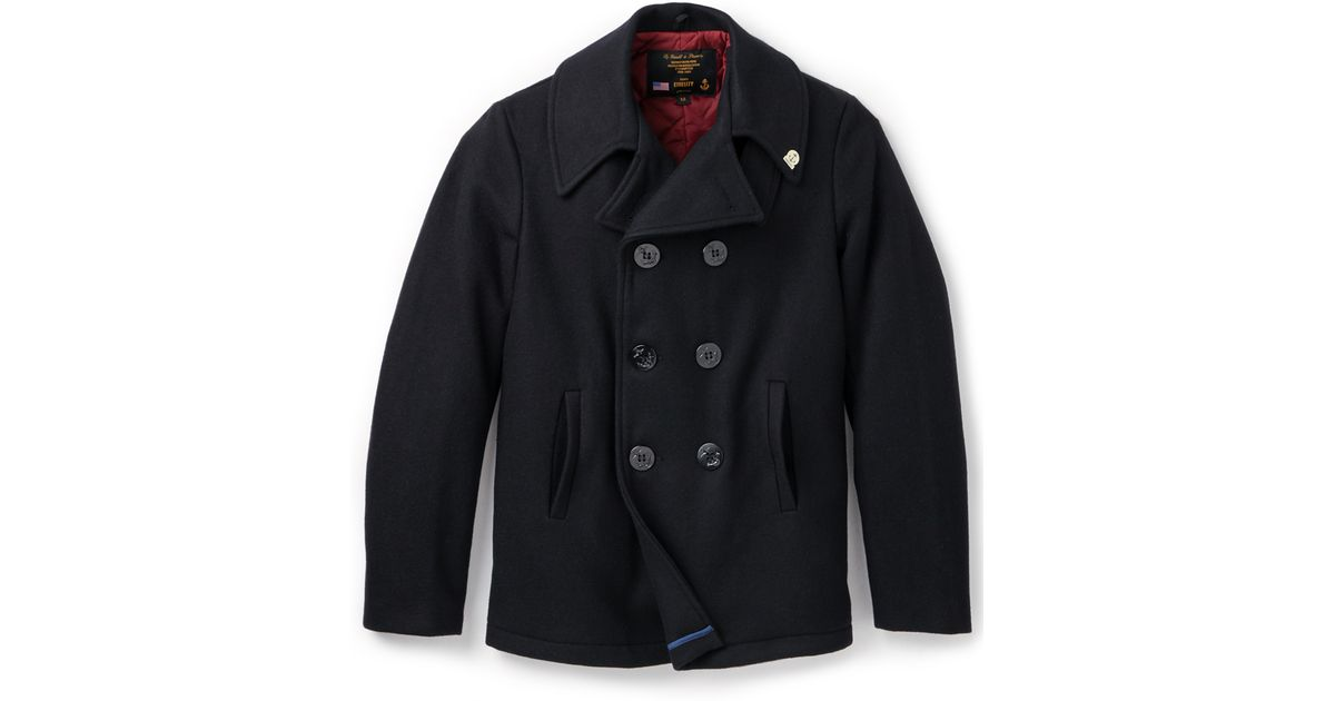 Gerald & stewart Quilted Pea Coat in Blue for Men | Lyst : quilted pea coat - Adamdwight.com