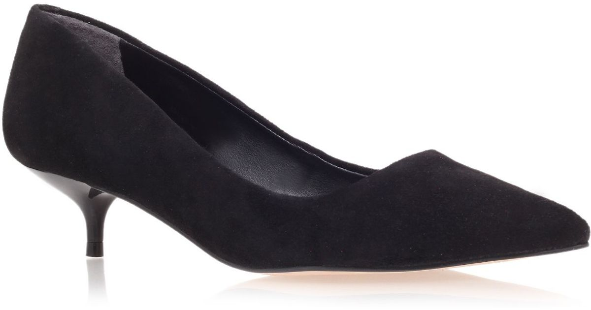 Carvela kurt geiger App Low Heel Court Shoes in Black   Lyst