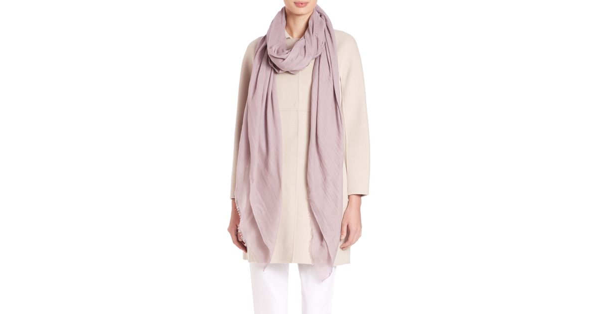 max mara sial woven scarf in pink lyst