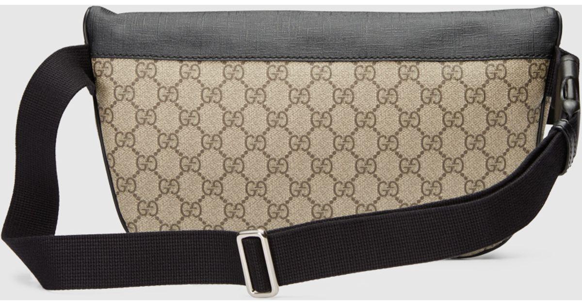 d05637b56ae Lyst - Gucci Gg Supreme Belt Bag in Black for Men