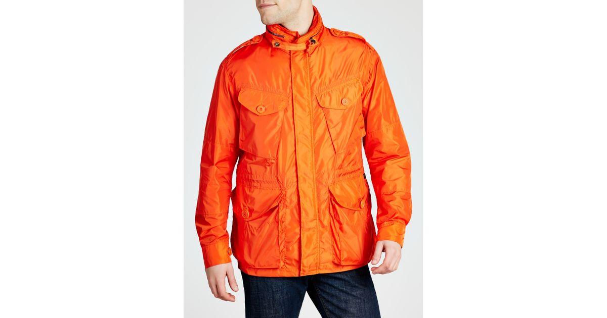 06f10a2a166 Polo Ralph Lauren Lightweight Combat Jacket in Orange for Men - Lyst