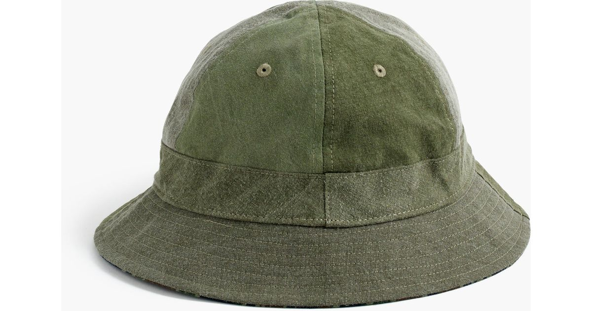f53e2c3d3cf Lyst - J.Crew Military Tent Bucket Hat in Green for Men