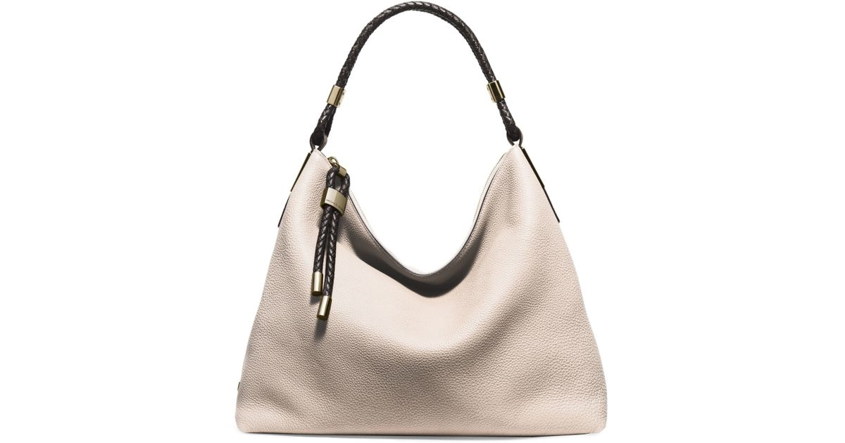 1640e25c8dce Michael kors Skorpios Large Leather Shoulder Bag in White (VANILLA) | Lyst