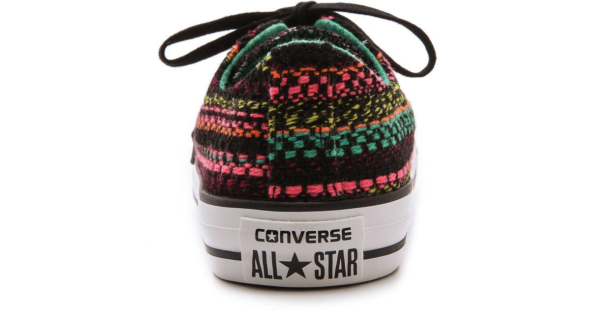6f25c04135c Lyst - Converse Chuck Taylor All Star Knit Ox - Parakeet Black Sulphine