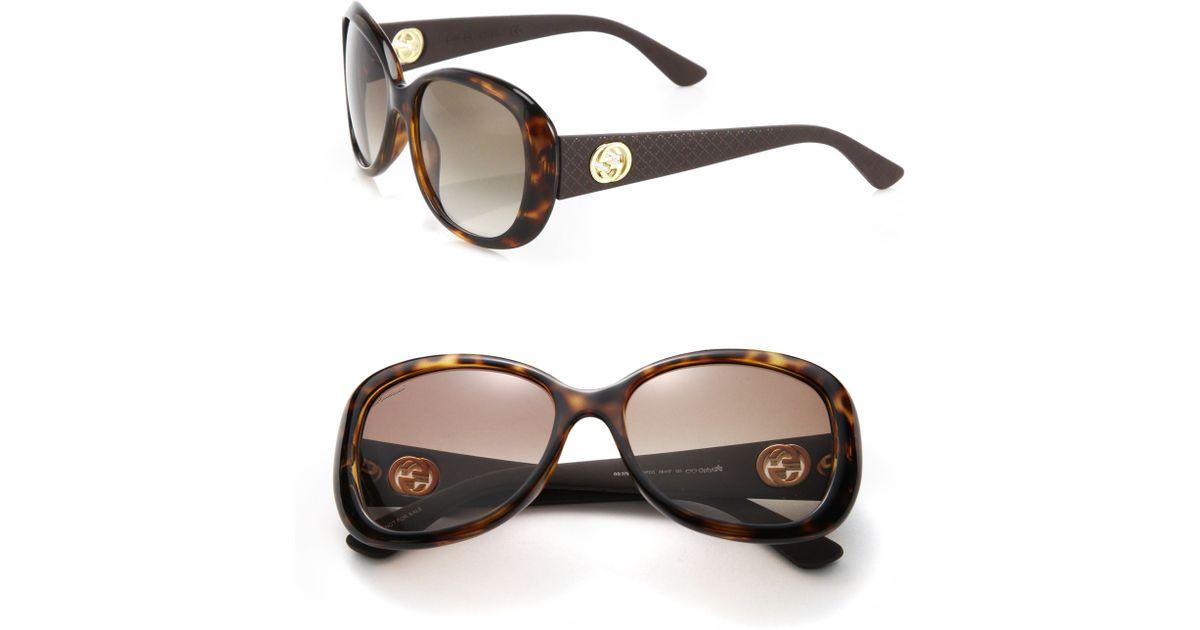84891f268e8 Lyst - Gucci 56mm Square Optyl Sunglasses in Brown