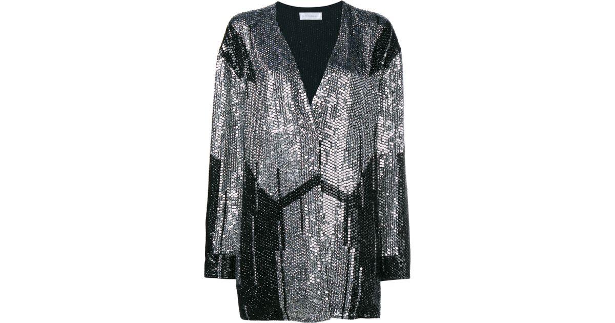Faith connexion Oversized Sequin Cardigan in Metallic | Lyst