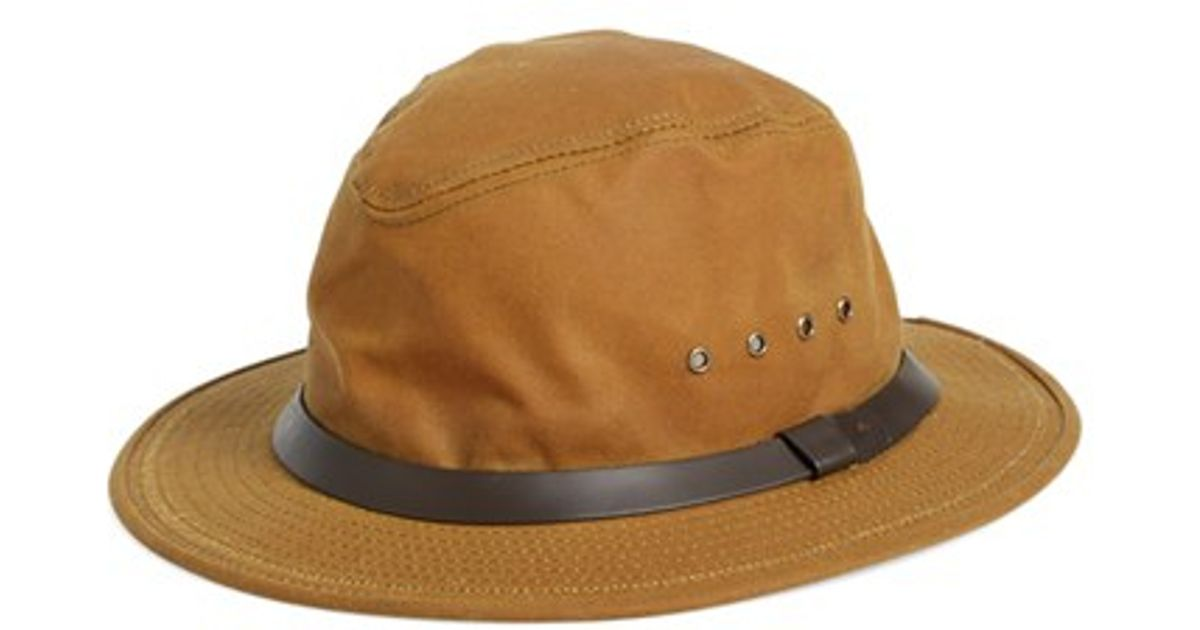 Filson Tin Cloth Packer Hat In Brown For Men Lyst