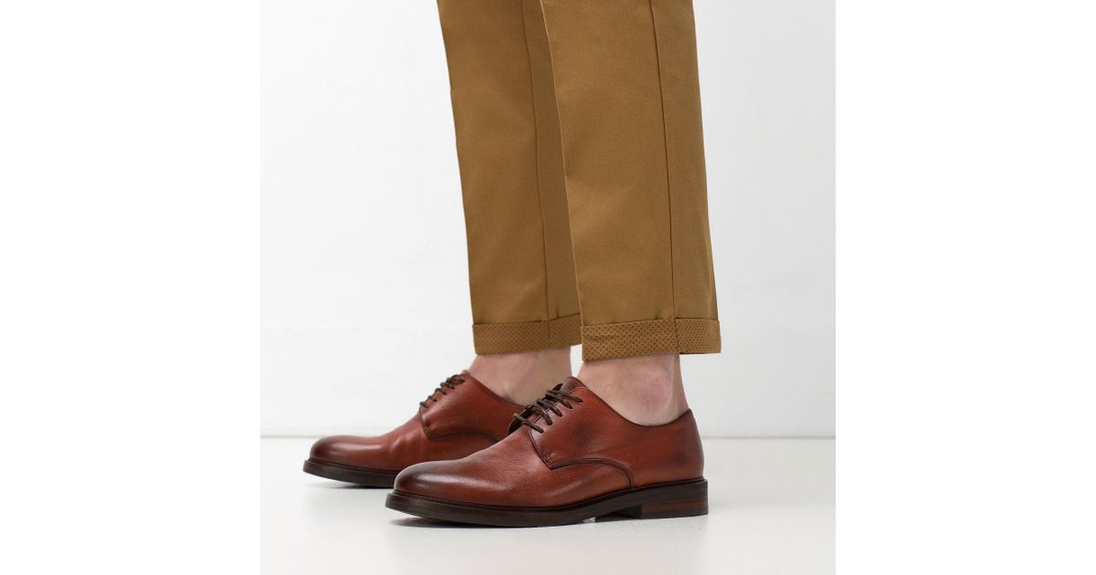 Smart Leather Shoes With Brogueing
