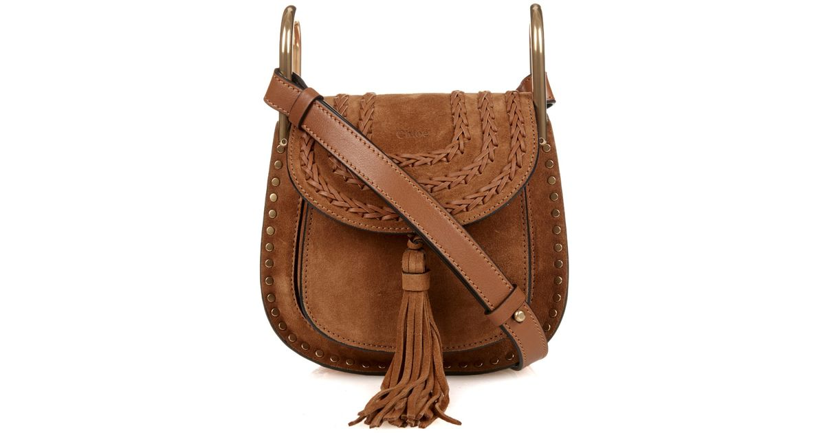 9508a8320987 ... best wholesaler 8f9a2 36343 Lyst - Chloé Hudson Mini Suede Cross-Body  Bag in Brown ...