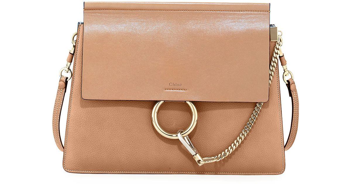 Lyst - Chloé Faye Medium Leather Shoulder Bag in Brown 3d2bc112b7a7